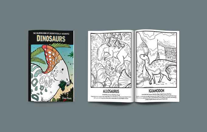 Diane Ramic's 'Coloring Book of (Scientifically Accurate) Paleofauna'