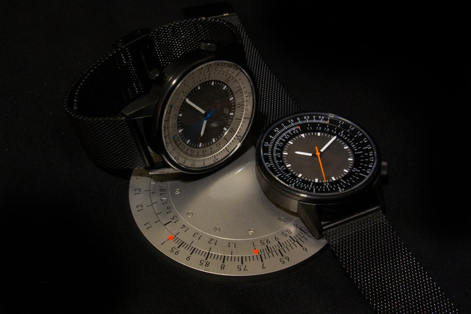 The 'Caliper Slide View' watch and circular slide rule