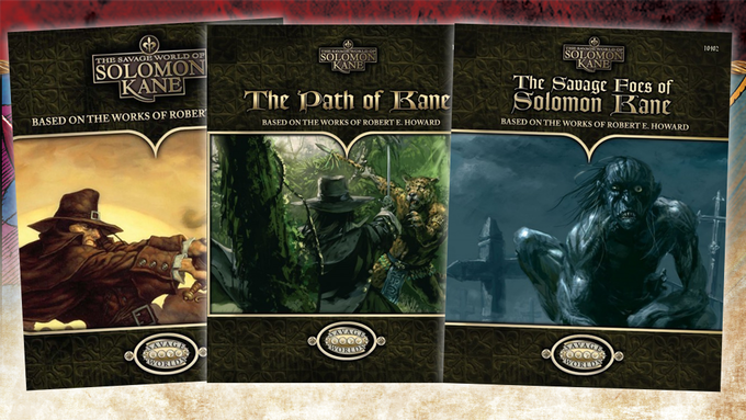"""Pinnacle Entertainment Group also publishes """"The Savage World of Solomon Kane,"""" an RPG based on Howard's Puritan wanderer."""
