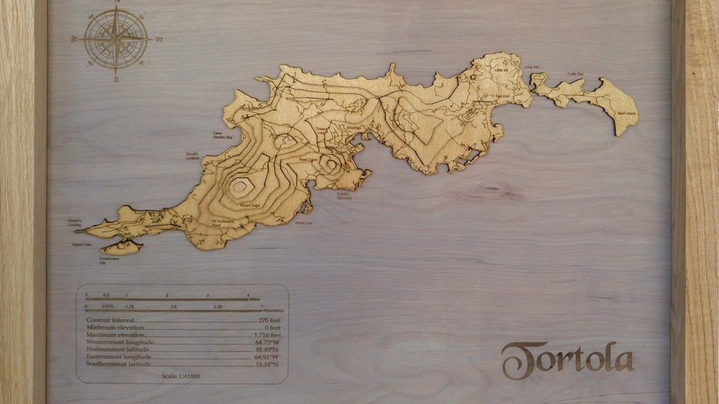 Meridian Maps: 3D Topographical Wooden Maps project video thumbnail