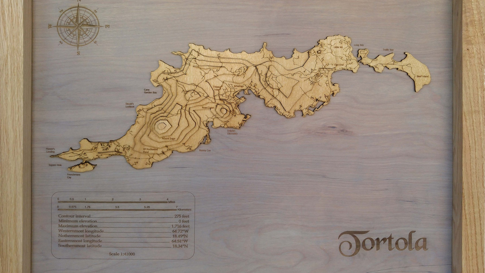Meridian Maps are 3D topographic hardwood maps. Each map is custom-made to any geographic region, laser-cut and hand-assembled.