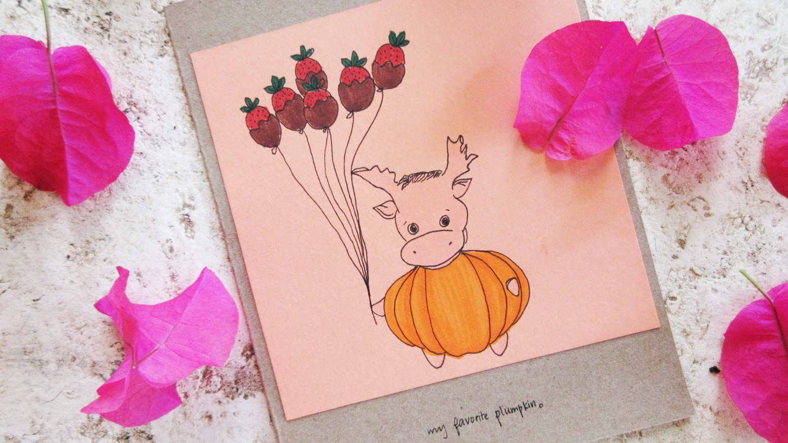 Peach And Bells Greeting Cards By Chelsea Kickstarter