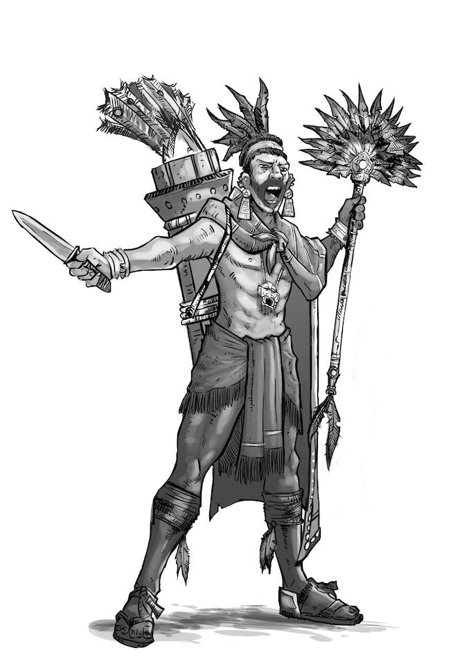 Aztec Temple Priest - $8