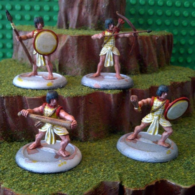 Aztec Warrior, Archer, Slinger and Spearman