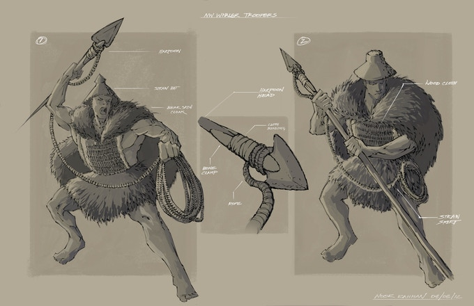 Makah Whaler/ Harpooner