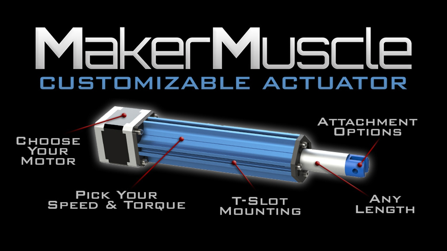 The first fully customizable & low cost actuator system for Makers! Let's make robotics better and more affordable!