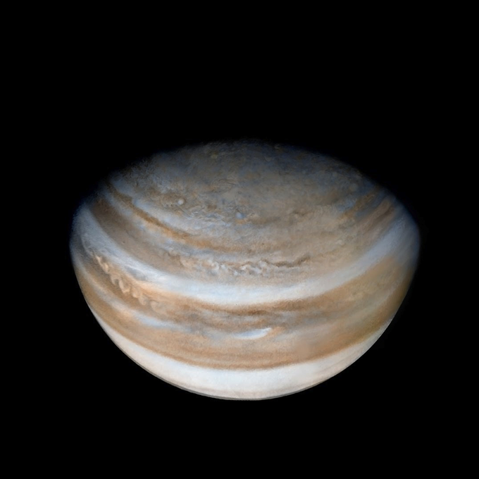 View of Jupiter from Pioneer 10