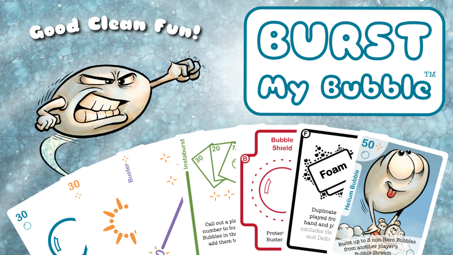 Good clean fun! Family-friendly strategy card game.
