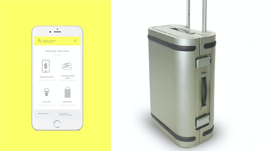 Samsara: The World's First Aluminum Smart Suitcase project video thumbnail