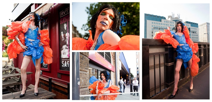 David Hoyle in Vauxhall 2013 - choose from a selection of digital photographs - (on your choice of paper and mount A3, A2 or custom size)