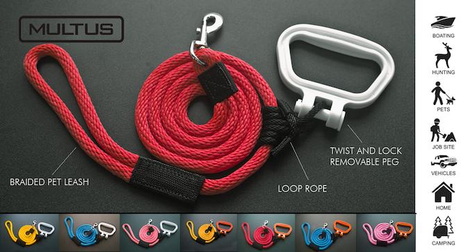Multus Adjustable Rope Dog Leash & Handle