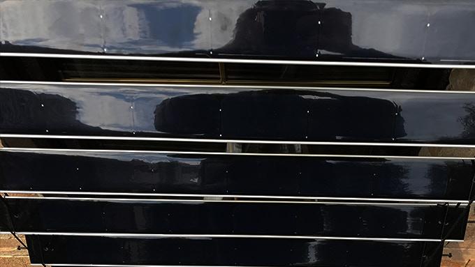 Outer facing photovoltaic solar panel cells