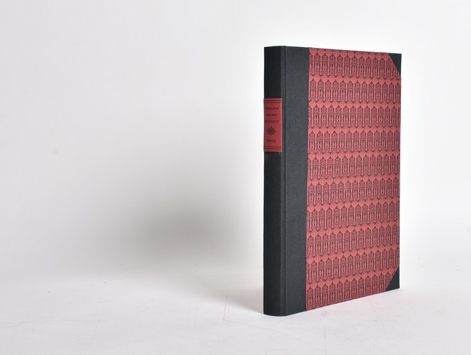 Prototype. Our half-cloth version is bound in a hardcover black cloth cover with letterpress papers.
