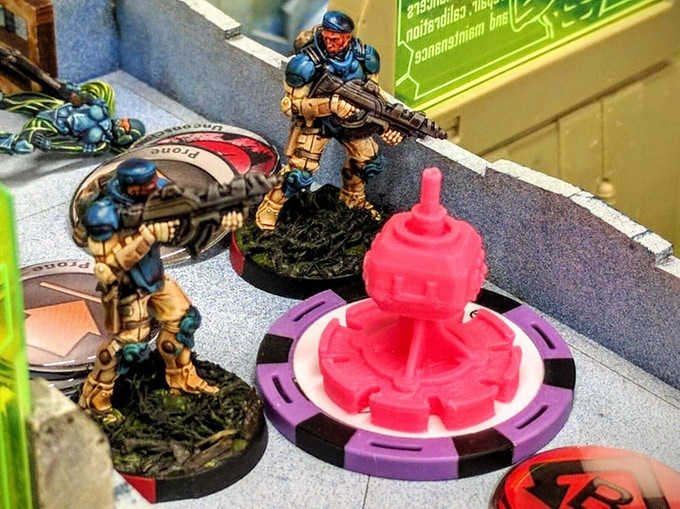 Fusiliers storm onto a beacon objective.