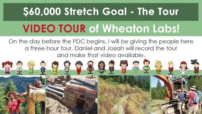 permaculture design course stream - tour stretch goal