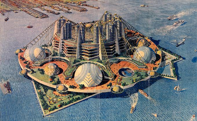 Frank Lloyd Wright  – Key Project for Ellis Island (1959)