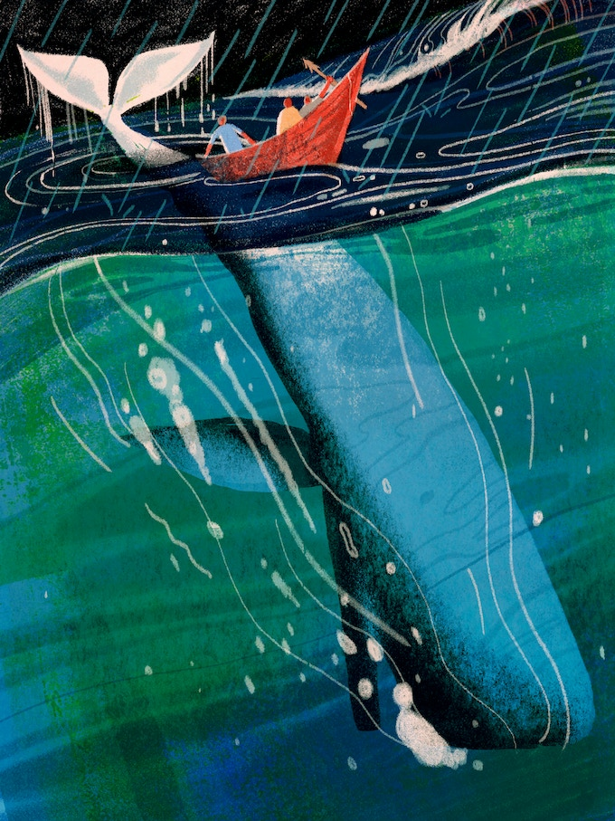 Lisk Feng's MOBY DICK illustration