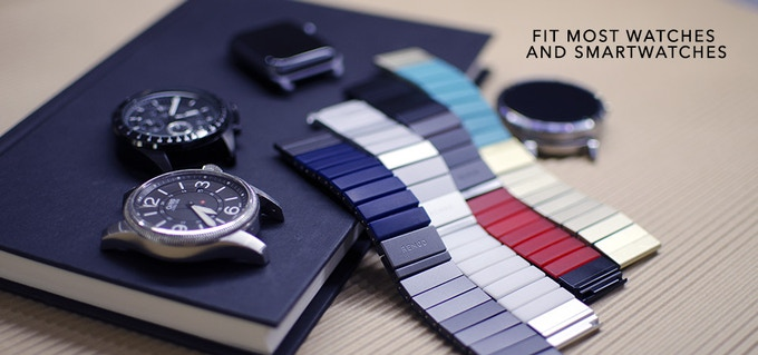 +Add-on £45.00 for a REMOD Watchband ( Available in Space Grey Blue, Silver White, Black Red and Gold Turquoise )