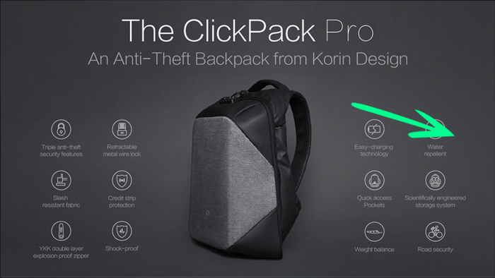 We designed the ClickPack Pro Anti-theft Backpack as a result to combine  security d609a76ea034c