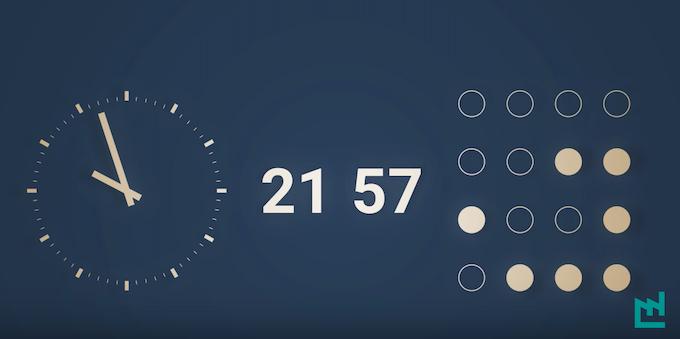 Lire l'heure avec le système binaire