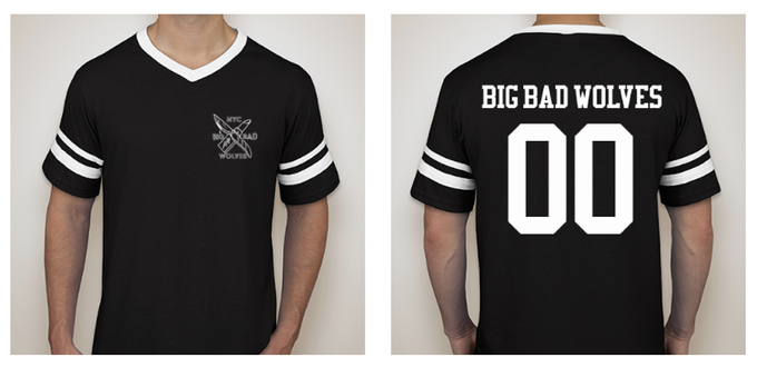 Limited edition varsity tees will be numbered individually. Got a lucky number? We'll put it on there for ya.