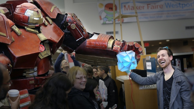 Troxes' newest fan is Iron Man's Hulkbuster! (shout out! coolest costume ever)