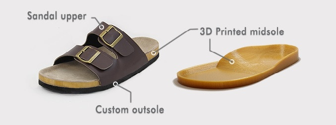 de16680d440a6 Our 3D printed custom sandal is created by using a full-length 3D printed  custom midsole