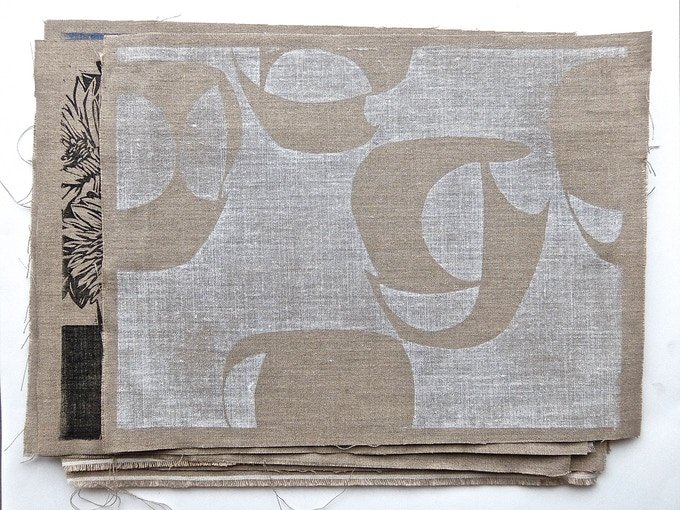 Artist Placemat Portfolio on Belgian linen sample