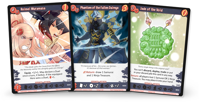Daimyo S Fall A Treasure Hunting Deckbuilding Game By