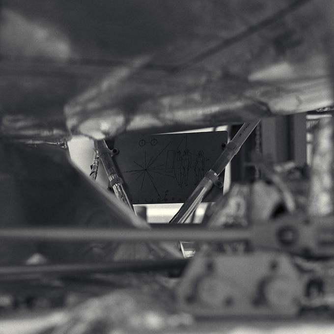 Plaque location on the Pioneer 10 spacecraft