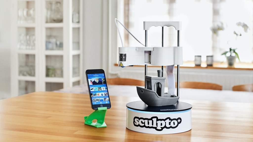 Sculpto+: The world's most user-friendly desktop 3D printer project video thumbnail