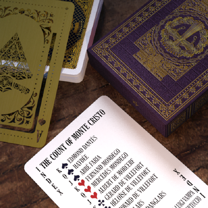 The Count of Monte Cristo Playing Cards ROYAL closeup