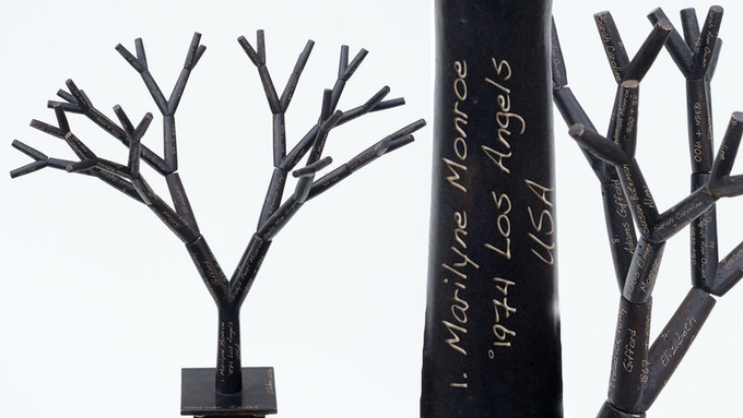 """Pierre Rulens (be) 6 generations Ancestry . The Bronze fractal tree.  12"""" inches height.  Original sculpture available with your data engraved."""