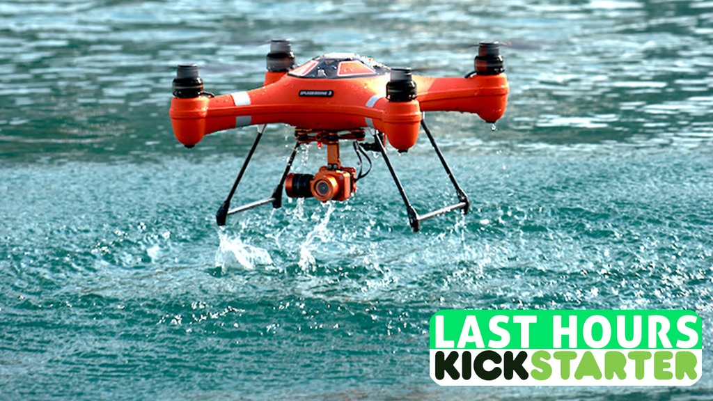 Splash Drone 3 a Fully Waterproof Drone that floats project video thumbnail