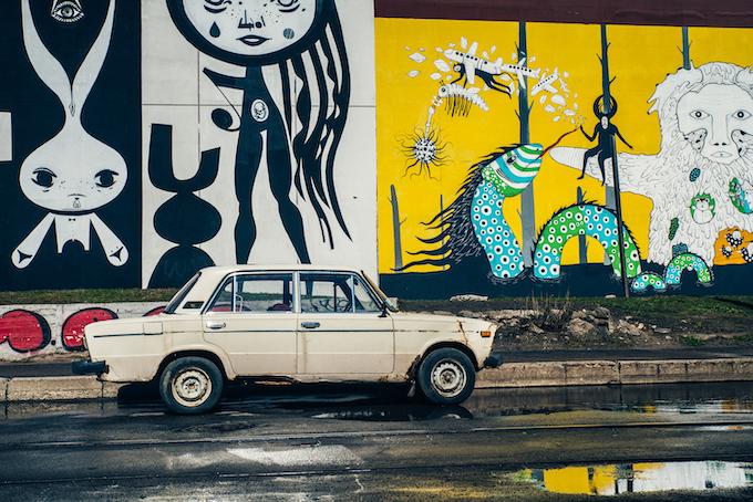 'Vulica Brasil' street art, Minsk