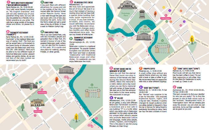 Pages of our travel guide