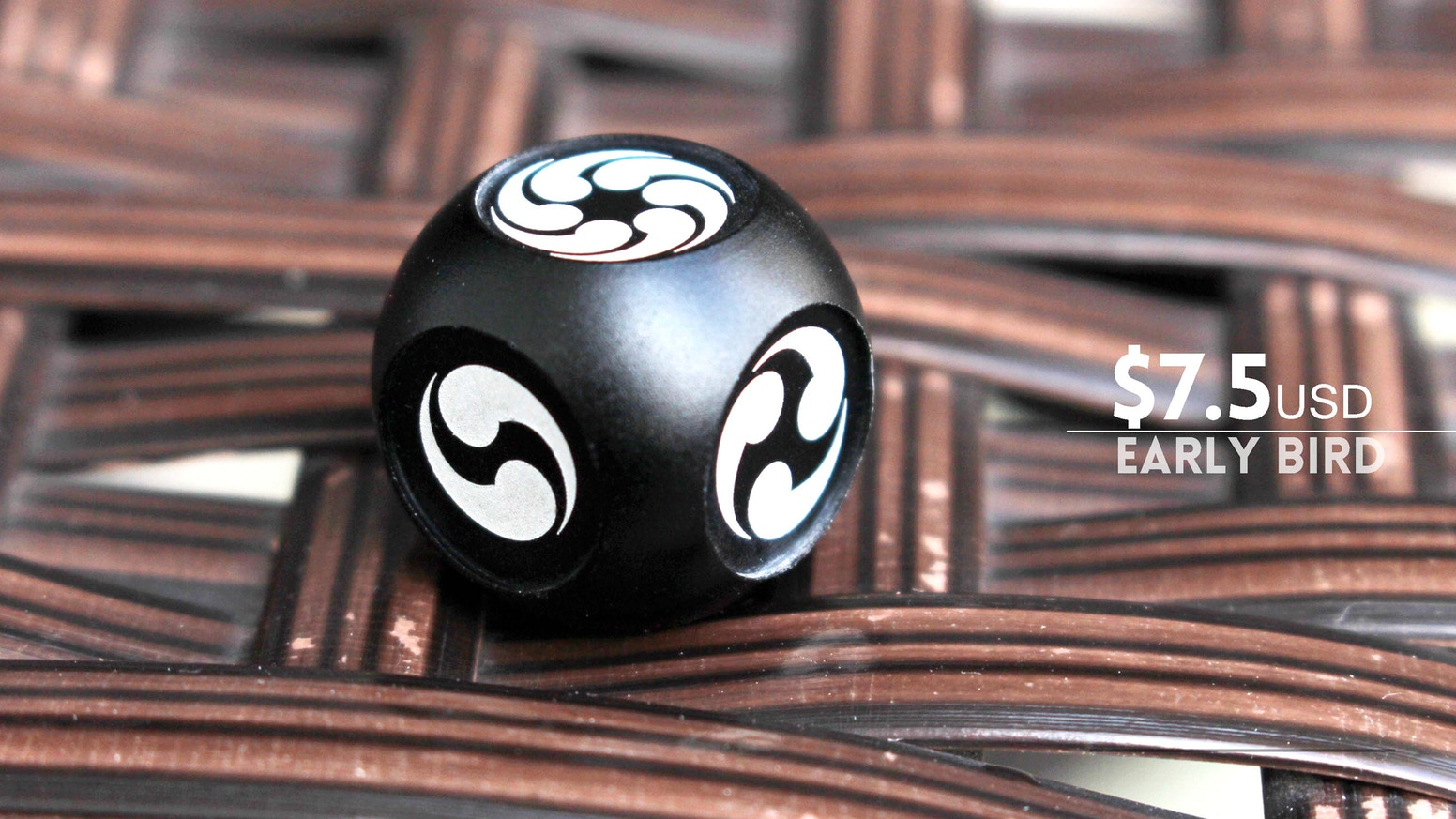 Magatama Dice Aluminum Dice With East Asian Symbols By Anvi Dice