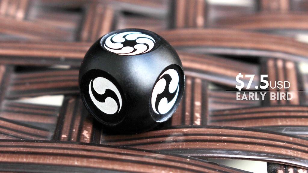 Magatama dice: Aluminum dice with east Asian symbols. project video thumbnail