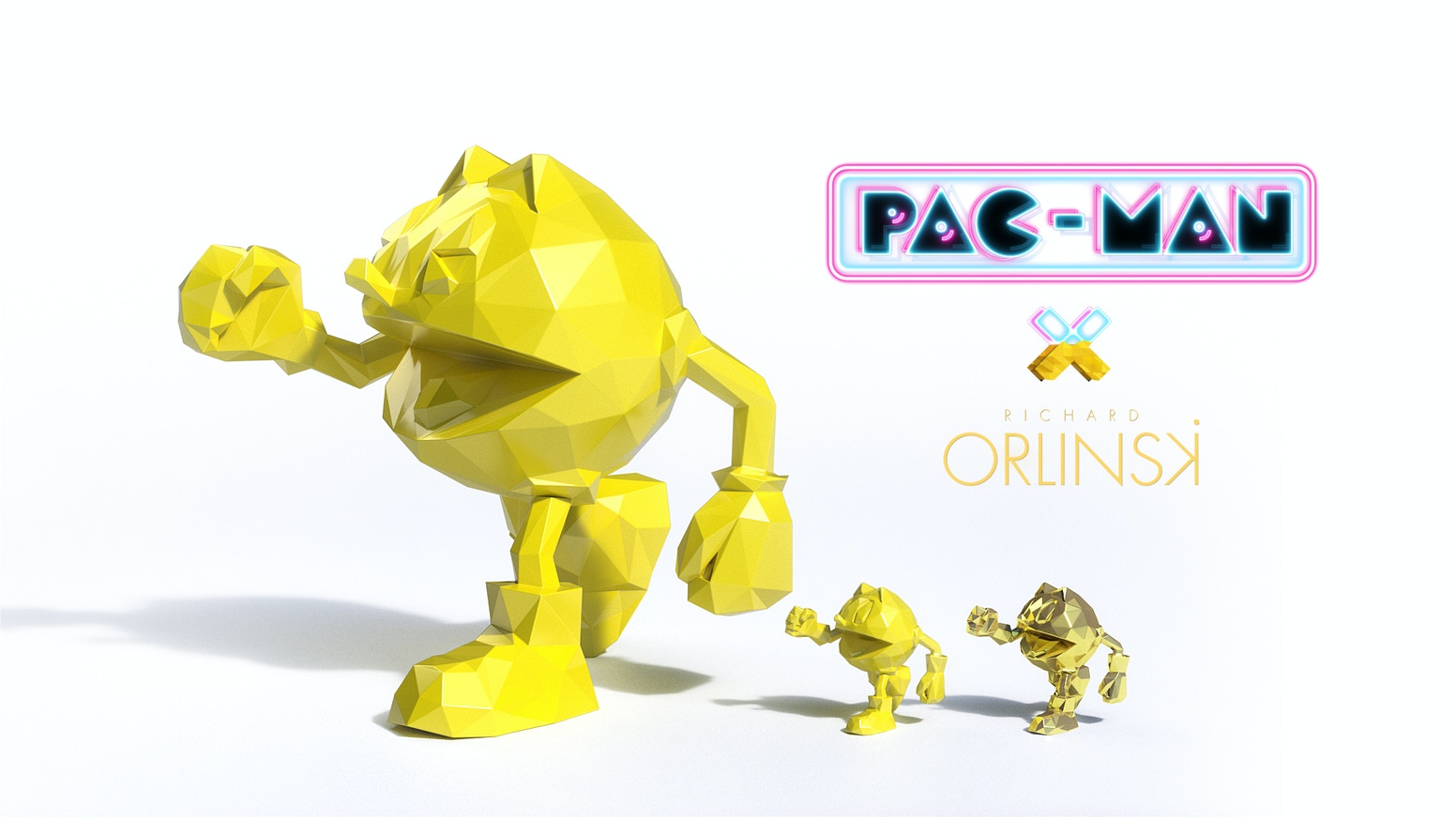Official PAC-MAN sculptures designed by renowned artist Richard Orlinski