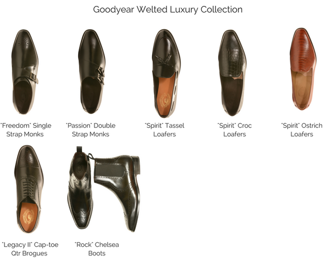 Take a look at the top view of the Goodyear Welted Luxury Collection