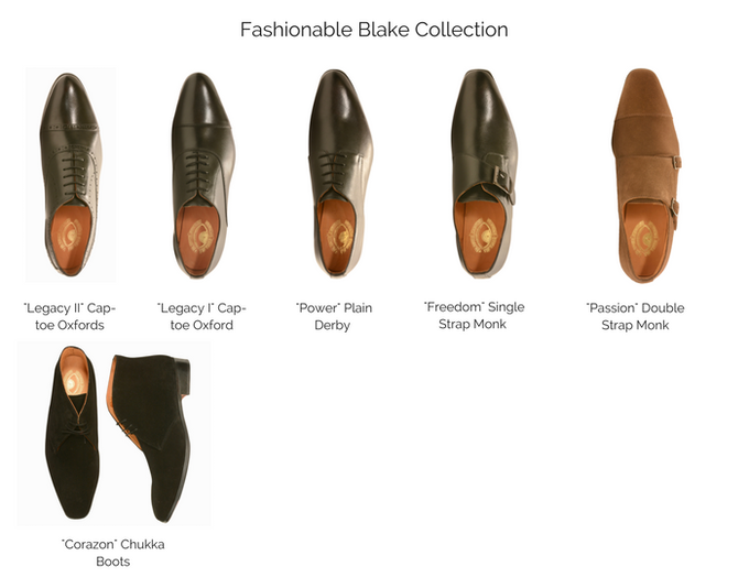 Take a look at the top view of the Fashionable Blake Collection