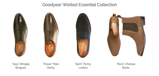 Take a look at the top view of the Goodyear Welted Essential Collection