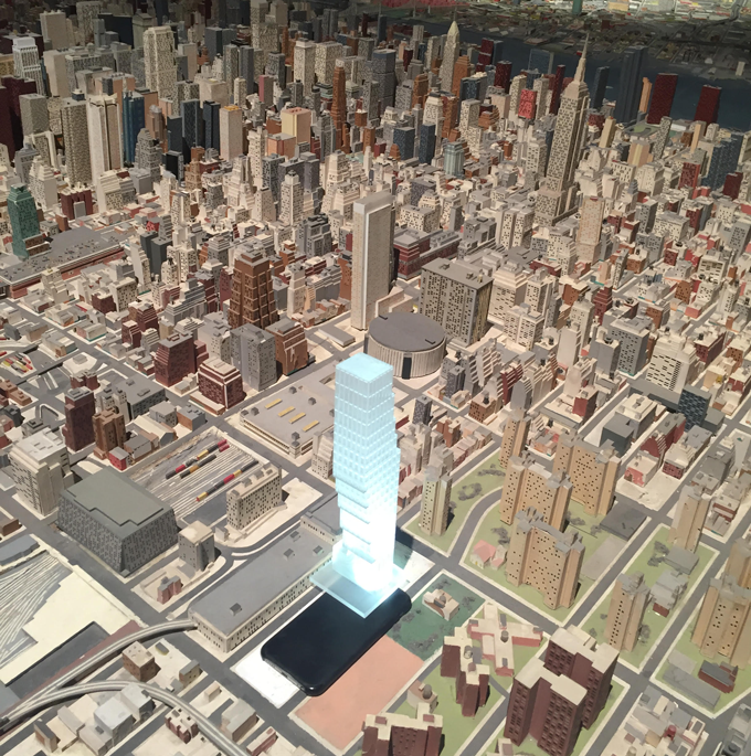 Testing a model on the Panorama of the City of New York