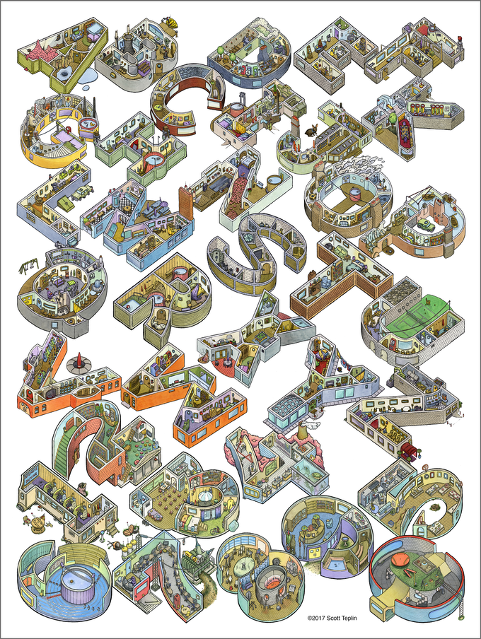 Alphabet City - the print exclusive to this campaign (click to enlarge image)