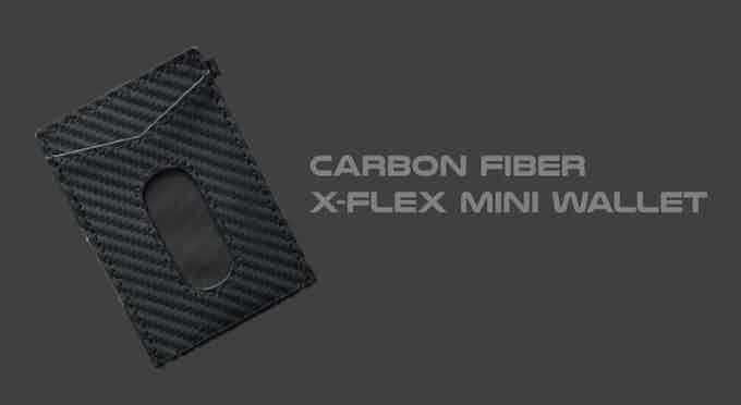 Carbon Fiber leather X-Flex Mini wallet