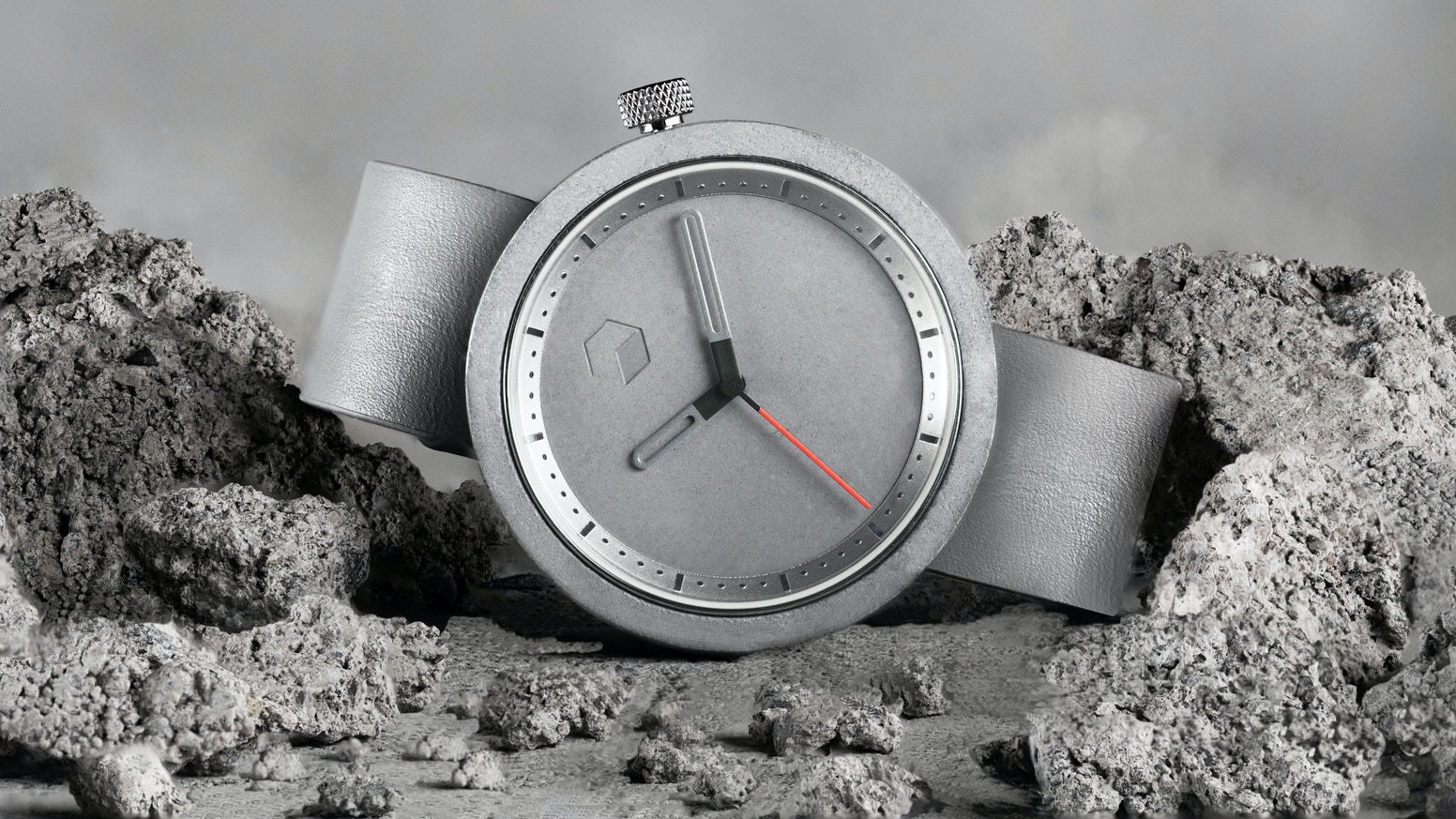 a beautiful premium design watch crafted from lightweight concrete. Designed to be different.