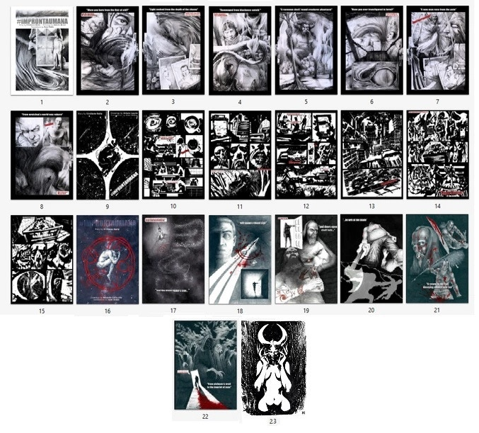 "The 23 original drawings of #ZERO available for the ""Original drawing pack"""