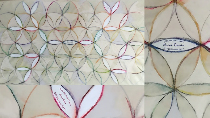 """Nuria Roman (Spain) 5 generations ancestry """" flower of life"""" - Available Format: A/0 + A/1"""