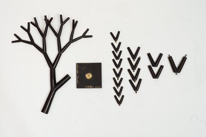 Pierre Rulens - bronze sculpture. 63 pieces make up the family tree.