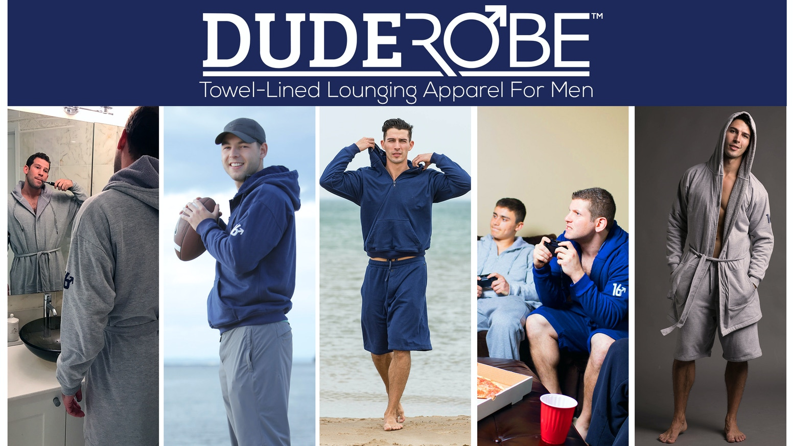 Towel-lined Hoodie, Robe, Shorts, Pants for all your dude activities. After Shower | After Gym | After Beach | Just Chillin